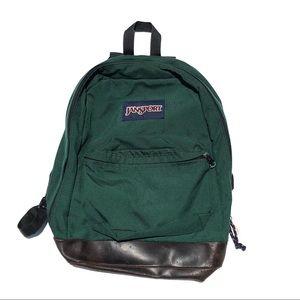Vintage forest green Jansport backpack